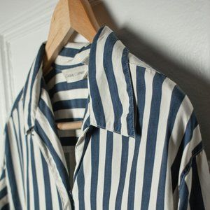 Casual Corner Striped Button Down Shirt